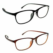 Retro Bendable TR90 Material Unisex Flexible Reading Glasses Black or Brown TN31