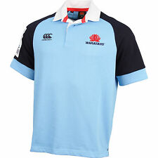 NSW Waratahs CCC 2016 Super Rugby Union Classic Collar Jersey Sizes S-4XL!