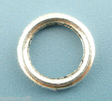 Wholesale Lots Silver Tone Soldered Closed Jump Ring 8mm Dia.