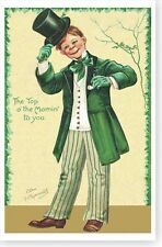 Top Of The Mornin Ellen Clapsaddle Irish Lad St Patricks Day Poster