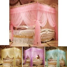 Princess 4 Corner Post Bed Canopy Mosquito Netting Twin Full Queen King Sizes