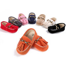 New Soft Sole Faux Leather Baby Infant Boys Girls Shoes Prewalkers 0-18M
