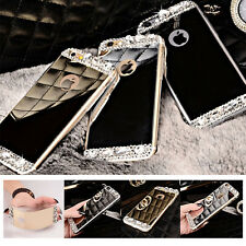 Luxury TPU Ultra-thin Mirror Crystal Metal Case Cover for Apple iPhone 5 5s