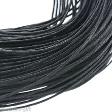 Wholesale Lots Wholesale Black Waxed Cotton Necklace Cord 1mm