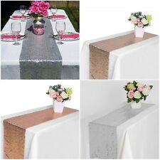Sequin/Satin Table Runners Sparkle Glitter Wedding Home Party Table Decorations