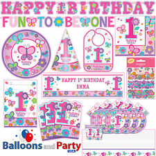 Sweet Birthday Girl 1st Birthday Party Tableware Decorations Supplies