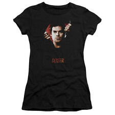 Dexter TV Show Unzipping Body Bag BODY BAD Licensed Ladies Cap Sleeve T-Shirt