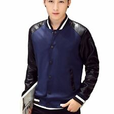 High Quality Men Jackets Full Sleeve Outwear Patchwork Coats Slim Fit Male