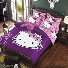 Hello Kitty Bedding Set Children Cotton Bed Sheets Hello Kitty Duvet Cover Bed