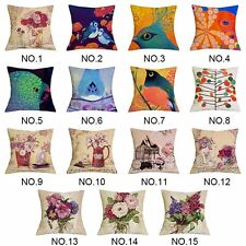 17''Colour Cotton Cushion Cover Throw Pillow Case Waist Car Sofa Bed Home Decor