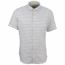 Camel active Men's Casual Shirt Short sleeve blue white striped 315494 17
