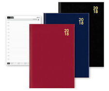 2018 A4/A5/A6 Diary Day to Page or Week to View Desk Diary Hard Backed Diary