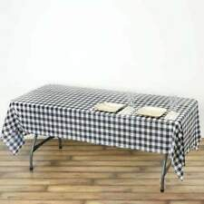 54 x 108 in. Disposable Checkered Plastic Vinyl Picnic Party Wedding Tablecloth