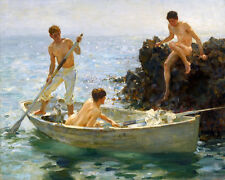A Morning Splendour Painting by Henry Scott Tuke Art Reproduction