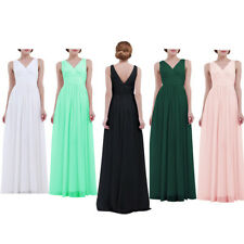 Women Chiffon Long Prom Bridesmaid Evening Party Ball Cocktail Maxi Dress 4-16