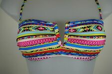 La Redoute ladies bright multi-colour bikini bottoms/tops, sizes UK 6-14