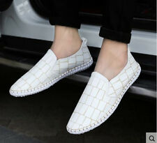 New Leather Casual Driving Slip on Loafers Moccasin Breathable Mens Shoes