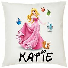 Personalised Kids Sleeping Beauty Soft Cushion Cover - 40x40cm - Great Gift!!