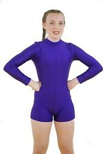 Dance-Dancewear-Stage-Shows-Tap-Solo-Troupes Childs-Girls PLAIN LYCRA UNITARD