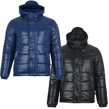 Bellfield Mens Xenon Padded Puffer Hooded Quilted Zip Up Jacket Clearance Stock
