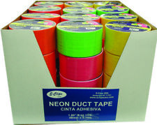 """Duct Tape - Assorted 4 NEON colors - 1.89""""(2"""") x 10 yards Case Pack 48-1773632"""