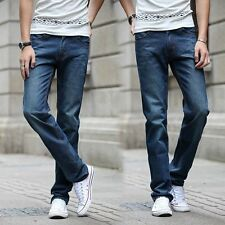 New 2016 brand Jean Mens Pants Blue Fit Cotton Male Denim Jeans with large Size