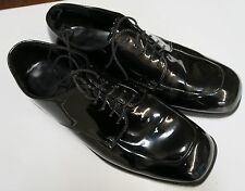 PERRY ELLIS Formal Black Patent Leather MENS Dress Shoes ~ Size 13m ~ MILITARY 2