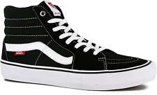 VANS SK8-HI PRO BLACK WHITE MENS CASUAL SKATE SHOES SNEAKERS FREE POST AUSTRALIA