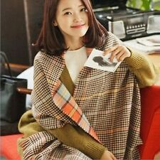 Winter luxury Brand Plaid Cashmere Scarf Women Oversized Blanket Scarf Wrap long