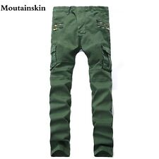Mountainskin 2017 New Men's Ripped Slim Denim Jeans Men Washed Hole Skinny Jeans