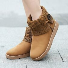 Plus Size 35-41 Women 2016 Buckle Snow Boots Woolen Ankle Boots Winter Warm