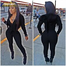 Rompers Womens Jumpsuit 2016 Full Sleeve Long Jumpsuit Overalls Sexy Women