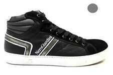 Nero Giardini A503752U 200 Black and Grey Velour Lace-up shoes Footwear Man