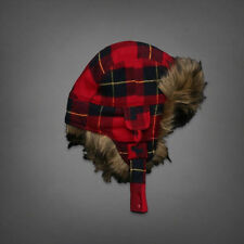 Hollister HCO  by Abercrombie Mens Classic SoCal Trapper Hat Sherpa Lined  NWT
