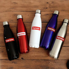 Supreme 350/500/750ml Stainless Steel Water Bottle + Cup for Hot/Cold Drinks