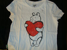 DISNEY / OLD NAVY  WINNIE THE POOH  VALENTINES DAY LADIES GRAPHIC TEE  NWTS