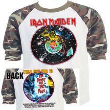 "IRON MAIDEN ""Beast on The Run""Piece Tour  Baseball T-Shirt, Size Small, B1-06"