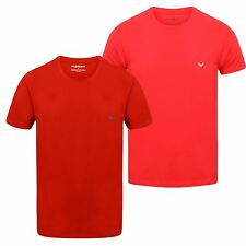 Emporio Armani Men's Short Sleeve T-Shirt Classic Red / Pink Rose S-XXL