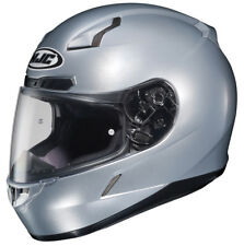 HJC Adult CL-17 Solid Silver Full Face Motorcycle Helmet Snell DOT