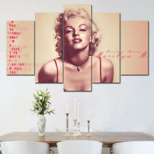 Framed Home Decor Canvas Print Painting Wall Art Marilyn Monroe Pink Writings