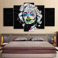 Framed Home Decor Canvas Print Painting Wall Art Marilyn Monroe Face colors