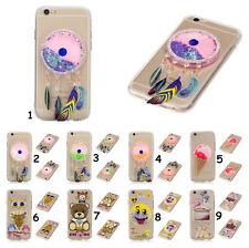 3D Dynamic Soft Liquid Glitter Quicksand TPU Crystal Case Cover For Cell Phones