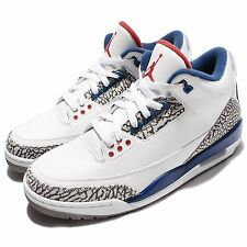 Nike Air Jordan 3 Retro OG True Blue Men Shoes III White Fire Red 854262-106