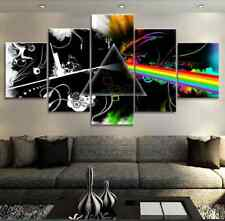 Framed Home Decor Canvas Print Painting Wall Art Pink Floyd Rock Music Sign
