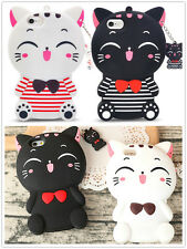 3D Smile Lucky Cat For iPhone/Samsung/Huawei/Oppo Silicone Soft Back Case Cover