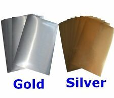 10 Sheets Gold Silver Self Adhesive Print Label Paper Peel Sticker Decal
