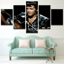 Framed Home Decor Canvas Print Painting Wall Art Elvis Presley Rock Guitar Live