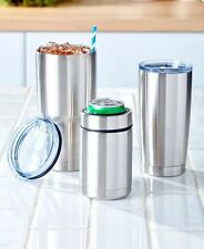 Stainless Steel Drinkware Tumbler Can Cooler Kitchen Dining Drink Car Home Auto