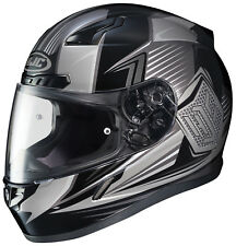 HJC Adult CL-17 Striker Black/Grey Full Face Motorcycle Helmet Snell DOT