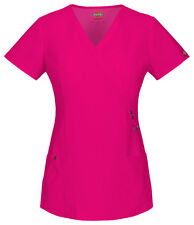 Scrubs Dickies Xtreme Stretch V- Neck Top 85956 Hot Pink  FREE SHIPPING